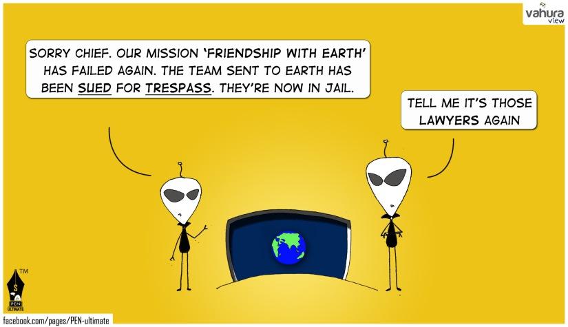 Aliens sued